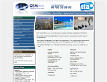Tablet Preview of gemtraveluk.co.uk